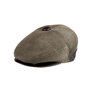 3519A-Corduroy Ivy Cap W/Warmer Flap