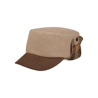 3520-Knitted Army Cap W/Warmer Flap