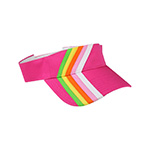Rainbow Stripe Cotton Twill Visor