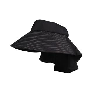 4303-Taslon UV Wide Brim Packable Visor W/Flap
