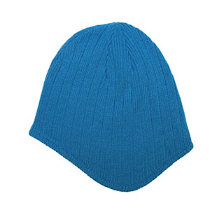 5068-Rib-Knit Ear-Flap Beanie