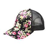 Floral Print Mesh Cap