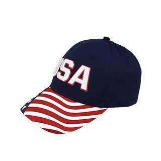 7678-Cotton Twill USA Flag Cap