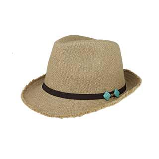8958-Jute Fedora Hat