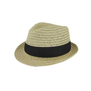 8959-Toyo Braid Fedora Hat