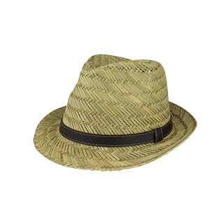 8961-Straw Fedora Hat