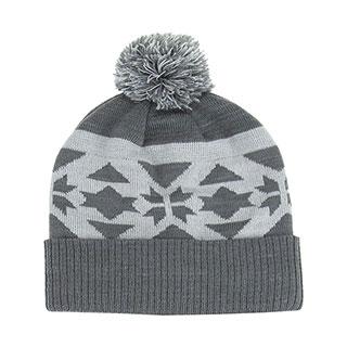 3e94599dc2a4c Wholesale Jacquard Knit Pom Beanie - Beanies - Winter Caps   Hats - Mega  Cap Inc