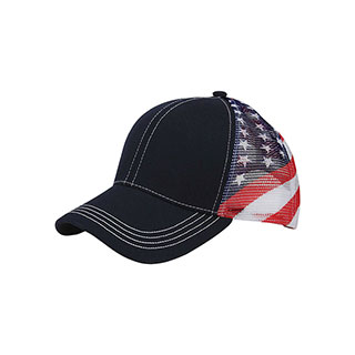 7641G-USA Cotton Twill Mesh Cap
