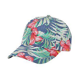 7655C-Floral Print Cap