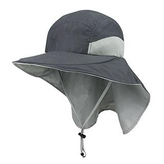 J7213C-Microfiber Wide Brim Flap Cap
