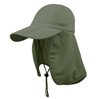 J7240B-Taslon UV Folding Bill Cap w/Mesh Flap