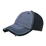 Distressed Heavy Washed Cotton Twill Cap
