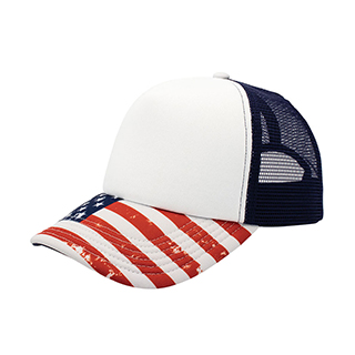 6801D-Sublimated Foam Trucker Cap