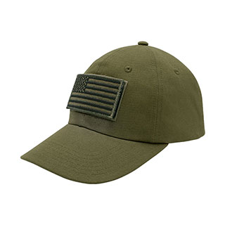 6950-USA Flag Tactical Patch Cotton Twill Cap