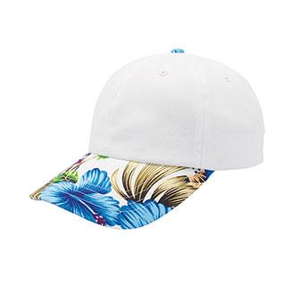 7655H-Floral Print Cap
