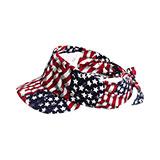 USA Flag Printed Visor/Kerchief