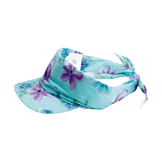 c89cc5f70fc85 Wholesale Flower Print Visor/Kerchief - Specialty Visors (floral, Denim,  Fashion, Souvenir - Visors - Mega Cap Inc