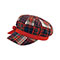 Main - 6570-Ladies' Plaid Newsboy Cap