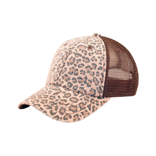 6582-Low Profile (Soft Str) Canvas Leopard Print Cap