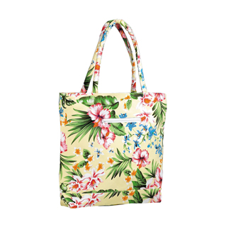 1509-Flower Canvas Tote Bag