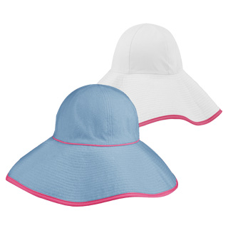 6590-Ladies' Reversible Terry Cloth Wide Brim Bucket Hat