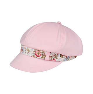 6593-Ladies' Peach Finish Brushed Cotton Newsboy Cap