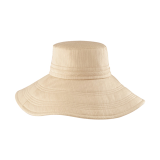 6594A-Ladies' Linen Wide Brim Hat