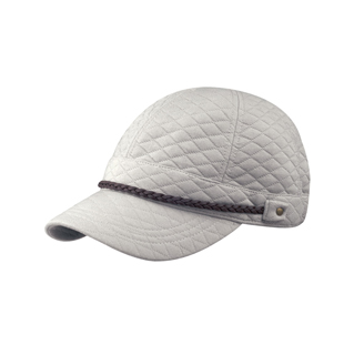 6600-Diamond Pattern Quilted Cotton Cap