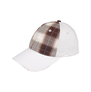 6863-Mega Flex Low Profile Plaid Cotton Fitted Cap