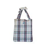 Fashion Plaid Beach Tote Bag