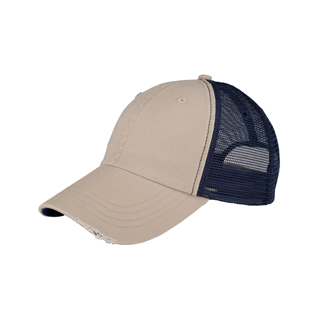 6887-Low Profile (Unstructured) Washed Organic Cotton Mesh Cap