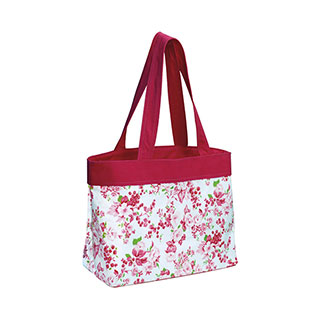 1518-Floral Beach Tote Bag