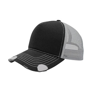 6984-Distressed Cotton Twill/Mesh Trucker Cap