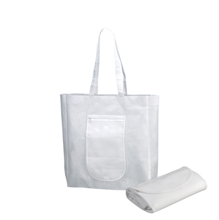 1605-100gram Packable Non Woven Tote Bag