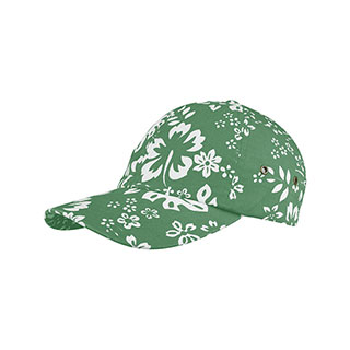 7655WY-Youth Washed Hawaiian Flower Print Cap