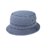 Pigment Dyed Twill Washed Bucket Hat