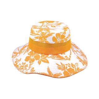 7905B-Cotton Canvas Flower Print Bucket Hat