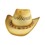 Outback Tea Stained Toyo Straw Cowboy Hat