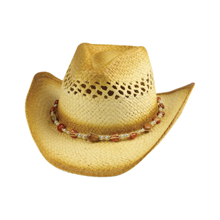 8177-Outback Tea Stained Toyo Straw Cowboy Hat