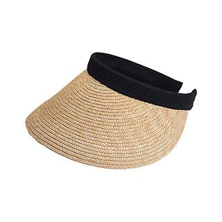 8402-Sewn Braid Wheat Straw Clip-On Visor