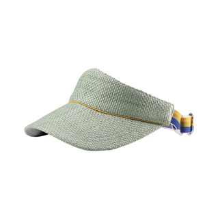 8405-Straw Visor W/Contrasting Piping