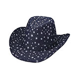 Star Print Denim Hat
