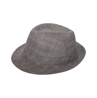 8912-Men's Plaid Fedora Hat