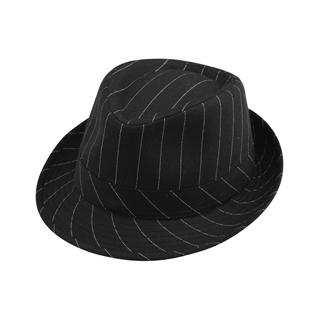 8916-Pinstripe Polyester Fedora Hat