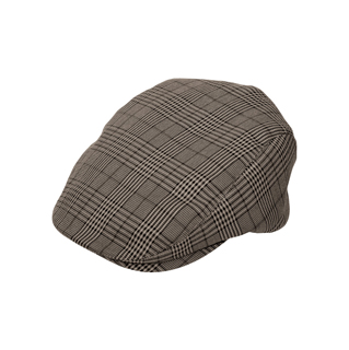 2127-Plaid Fashion Ivy Cap
