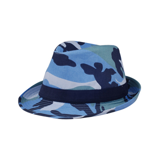 8919-Camouflage Fedora Hat