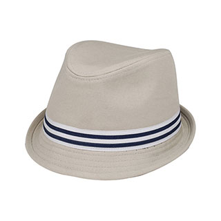 8921-Soft Cotton Canvas Fedora Hat