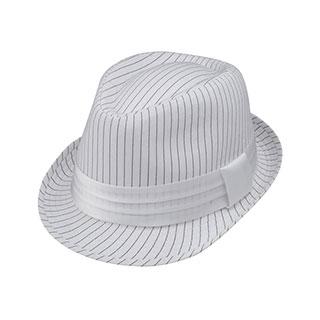 8926-Pinstripe Fedora Hat