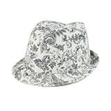 Ladies' Corduroy Printed  Fedora Hat