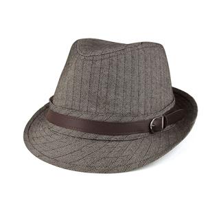 8930-Herringbone Fedora Hat
